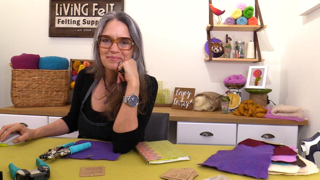 Marie Spaulding, in the studio